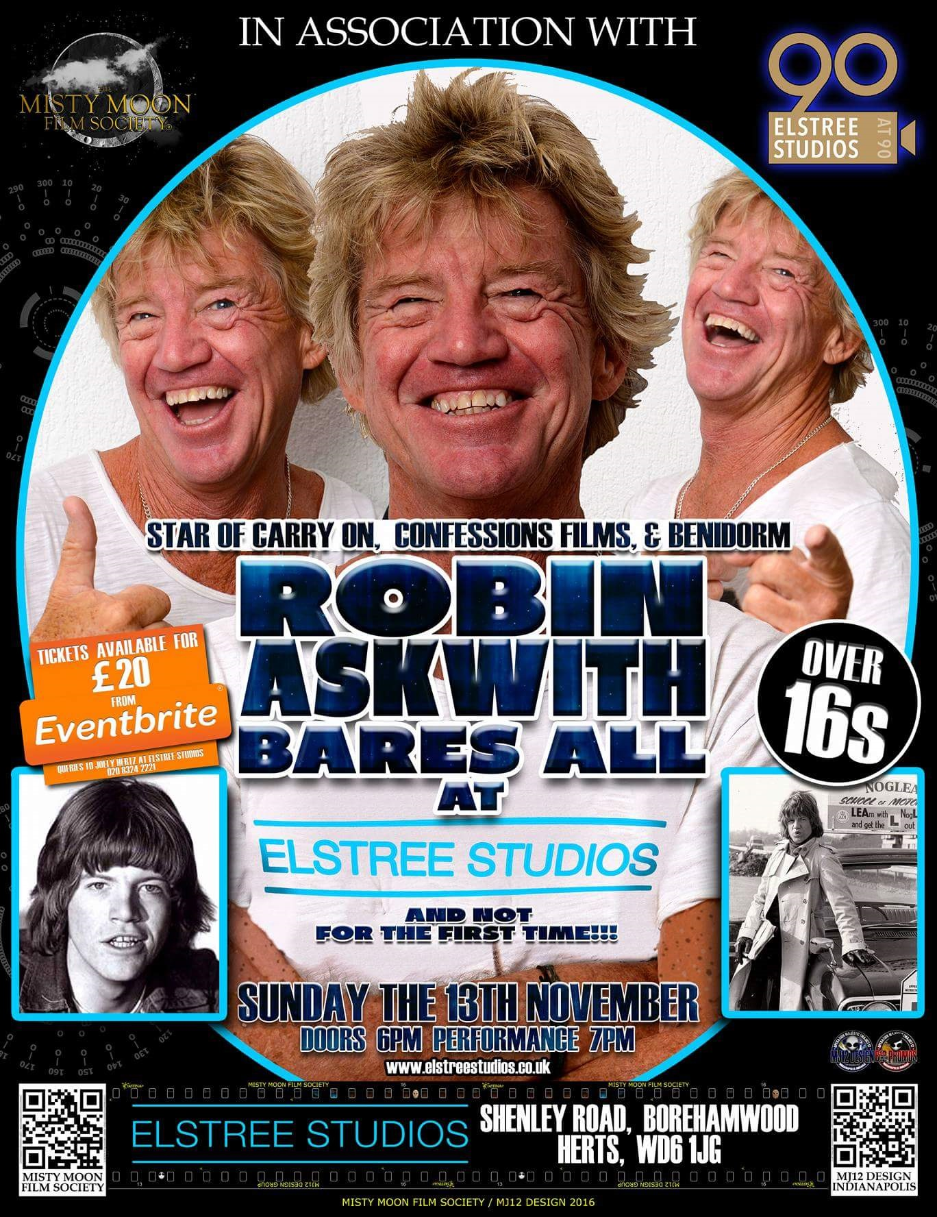 Robin Askwith Bares All at Elstree Studios